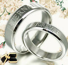 Personal Anywords His Her Matching Anniversary Titanium Promise Wedding Ring
