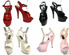 Pleaser women's sexy strappy platform sandals 6 inch spike high heel shoes