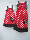 Minnie Mouse Mother & Daughter Dresses ANY SIZE 4-12 Yrs  Multi-col Summer Gift