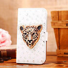 NEW DELUX 3D LEATHER BLING DIAMANTE DIAMOND SPARKLE CASE COVER FOR IPHONE 4 4S
