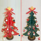 29cm 3D Red or Green Wooden Christmas Tree with Ornaments TD02753