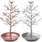 Retro Bird Tree Jewelry Earrings Ring Stand Holder Show Rack Necklace Display Q