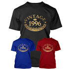 GOLD VINTAGE 1996 1997 1998 1999 18th BIRTHDAY T Shirt Present Gift - NEW S-XXL