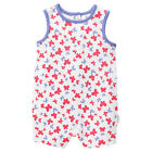 BNWT BABY GIRLS SIZE 0000 NEWBABY ALL IN ONE ROMPER + HAT PINK STRIPES SPOTS NEW