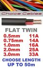 Flat Twin Core Auto Cable 2 Core  2 x 0.5mm, 0.75mm, 1mm, 2mm, 3mm. All Lengths
