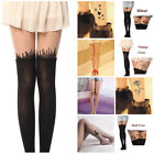 Cute Patterns Sheer Pantyhose Mock Stockings Tights Leggings Sexy Tattoo Socks