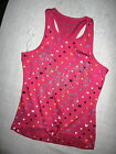 One Step Up-Girls Pink Top, Stars/Hearts/Peace Sign, Studded Butterfly-Brand New