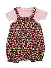 BNWOT GIRLS EX TU STRAWBERRY DESIGN TWO PIECE ROMPER SET AGE RANGE 0 - 24 MONTHS