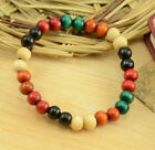 New Popular Fashion Design New Color Wooden Beads Single-coil Elastic Bracelet
