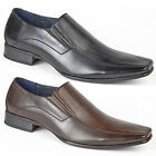 Mens New Black / Brown Twin Gusset Leather Lined Fashion Shoes UK 6 - 13