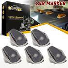 5pcs cab marker Running Clearance Light Smoke Covers+Base Housing for 80-97 Ford