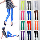 Neon Shiny Bright Leggings Fluorescent Glow Stretch Tights Pants 12 Colors