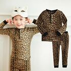 "NWT Vaenait Baby Toddler Kid Girl Boy In Door Sleepwear Pajama Set ""Leopard"""