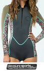 Billabong Salty Dayz Wetsuit Womens Long Sleeve Front Zip Springsuit Surf Capsul