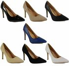 NEW WOMENS LADIES PATENT HIGH STILETTO HEEL PARTY COURT SHOES SANDALS SIZE