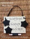 Weight Loss Tracker Plaque BLACKBOARD STARS & CHALK Diet Watchers Wood Sign GEMS