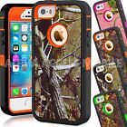 For Apple iPhone 5C 5 5S SE Camo Hybrid Shockproof Armor Rugged Hard Case Cover
