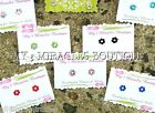 FLOWER Birthstone Stud Post EARRINGS Daisy Rose Tiny Small Girls Teens Dainty