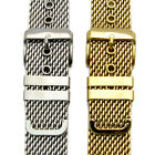 Smart  Mesh Stainless Steel Watch Strap Band Gold Plated / Chrome 18mm 20mm 22mm