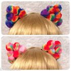 Pom Pom Ear Headband - handmade child adult fancy dress party hairband costume