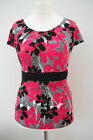 New-M&S PER UNA CAP SLEEVE TOP~BIG FLOWER PRINT~IN-STORE NOW~8-14