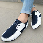US6-10 New Breathable Mesh Casual SlipON Sneaker lace up leather like mens shoes
