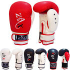 Rex Leather Gel Boxing Gloves Sparring Grappling Muay Thai Gloves 10,12,14,16 OZ