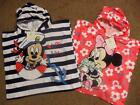 BNWT Disney Minnie Mouse or Mickey Mouse baby hooded beach bath poncho towel