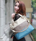 Ladies Shoulder Bag Chian Messenger Totes 2014 New Womens Splicing Color Handbag