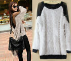 Women/Lady Gauze See-through Backless Long Sleeve  Blouse Soft Fur Sweater Tops