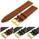 Padded Watch Band Strap Genuine Italian Calf Leather 20mm 4 colours to choose