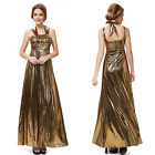 Ever Pretty Womens Sexy Gold Long Evening Formal Prom Gowns New Designer 09215