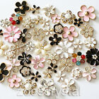Bling Bling Gold flower pearl crystal metal cabochon decoden deco kit