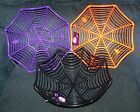 HALLOWEEN Spider Web Candy Dish 3.5 inches tall 11 inches wide choice NEW