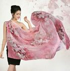 Womens  Stylish 100% Silk Scarf  Party Wraps Shawl Stole Bow Beach Long Scarves