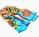 Womens  Ladies Stylish 100% Silk Long Scarf Wraps Shawl Stole Bow Beach Scarves