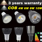 4W 6W 8W 10W COB LED Bulbs High Power GU10 Light Day Warm White Metal Aluminum