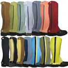 Adults Childs Shires Horse Riding Jumping Jodhpur Suede Gaiters Half Chaps Offer