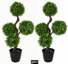 Artificial Plant LARGE 90cm UV Resistant Boxwood Topiary Realistic #N0004