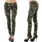 Ladies Women's Jeans Trousers Camouflage Cargo Pants Green sizes UK 8 10 12 14