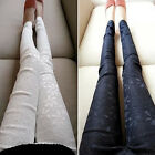 2014 Women's Stretch Leggings Skinny Lace Pants Floral Slim Tights Pencil Pants