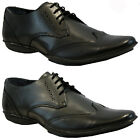 MENS LEATHER SMART FORMAL OFFICE WEDDING SHOES ITALIAN DRESS CASUAL PARTY SIZE