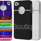 Slim Case With Chrome and Grip Feel For The iPhone 4 4s 5 5s  Screen Protector