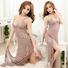 Sexy Babydoll Underwear Long Gowns Chemise Nightie Dress Lingerie Set - 4 COLORS