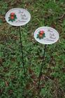 sadly missed oval plaque memorial stick red poinsettia christmas mum or dad