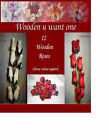 12 Mix Wooden Roses - Choose Mix Required