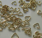 Jewellery Craft Design Gold Plated Triangle Pinch Jump Ring Bails 7mm Findings