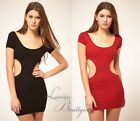 ASOS Mini Party Bodycon DressCut Out Black/Red Sz AU 12 / US 8 By  Quontum