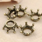 Antiqued Bronze Vintage Alloy Crown Pendant Charms Accessories 12*12mm 50PCS