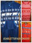 Kids Onesie  Reindeer Snowflake Polar Bear  Xmas All In One Pyjamas  7-8 Y  Bnwt